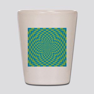 Checkered Optical Illusion Shot Glass