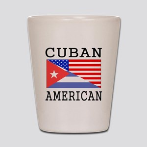 Cuban American Flag Shot Glass