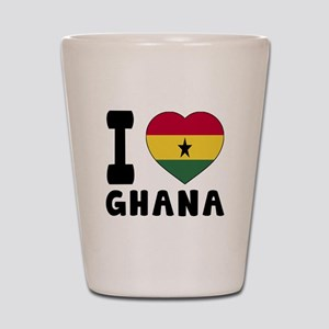 I Love Ghana Shot Glass