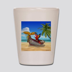Parrots of the Caribbean Shot Glass