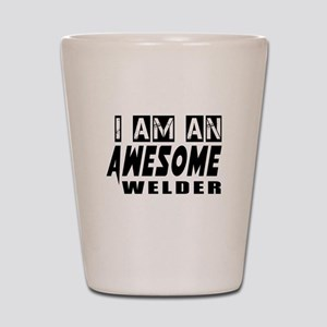 I Am Welder Shot Glass