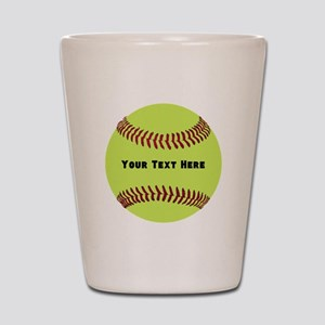 Customize Softball Name Shot Glass