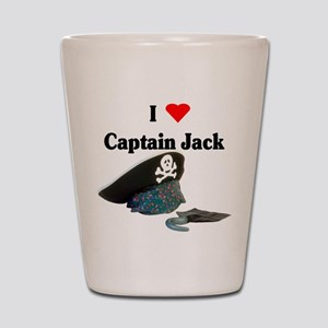 I Heart Captain Jack Shot Glass