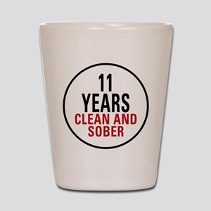 11 Years Clean & Sober Shot Glass
