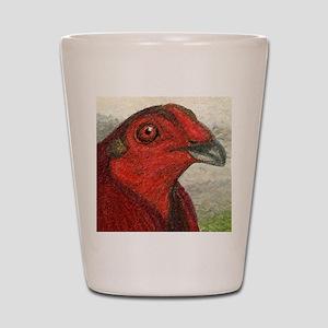 American Game Fowl Shot Glasses - CafePress
