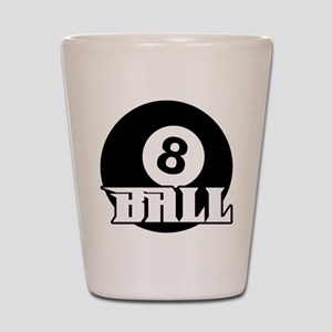 8 Ball Shot Glass