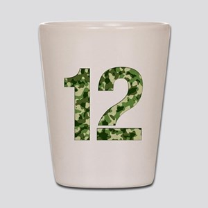 Number 12, Camo Shot Glass