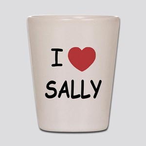 I heart sally Shot Glass
