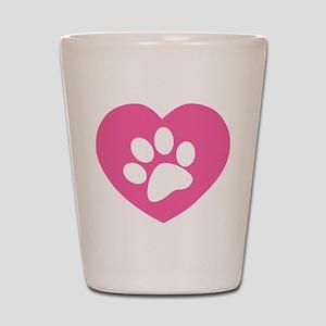 47da55e1b4e4 Cat Paw Print Shot Glasses - CafePress