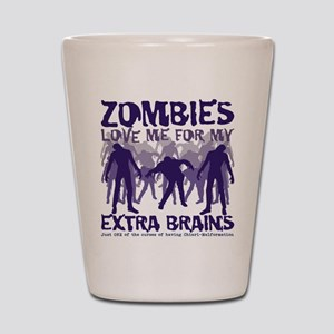 Zombies Love Me Shot Glass