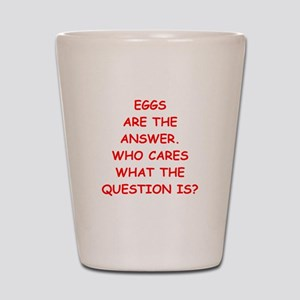 Funny Scrambled Eggs Shot Glasses - CafePress