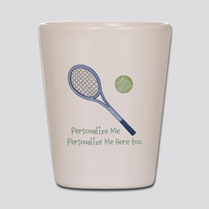 Personalized Tennis Shot Glass
