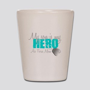 AF Mom Son is my Hero Shot Glass