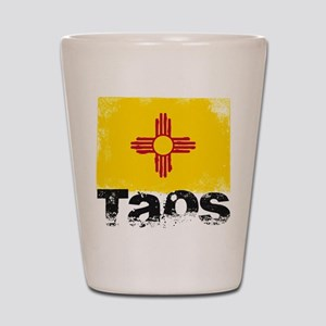 Taos Grunge Flag Shot Glass
