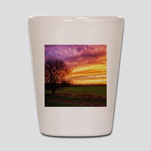 Rural Sunset Burst Shot Glass