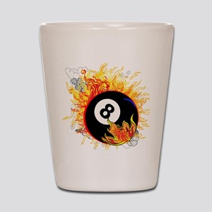 Fiery Eight Ball Shot Glass