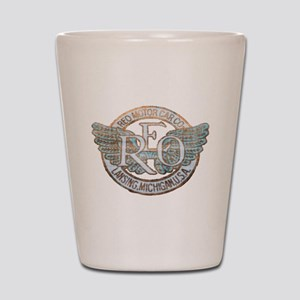 REO Motor Car Co. Retro Logo Shot Glass