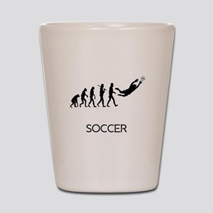 Soccer Goalie Evolution Shot Glass