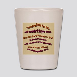 The Lord is God_small square Shot Glass