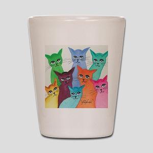 07cb7c451617 Cats Meow Shot Glasses - CafePress