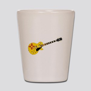 New Mexico State Flag Guitar Shot Glass