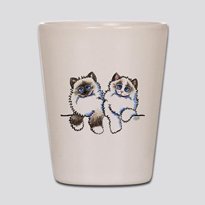 Ragdolls Pair Off-Leash Art™ Shot Glass