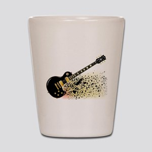Shattering Blues Guitar Shot Glass