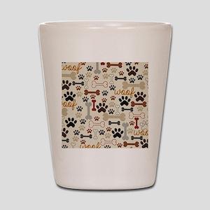 92925571ac8e Paw Print Shot Glasses - CafePress