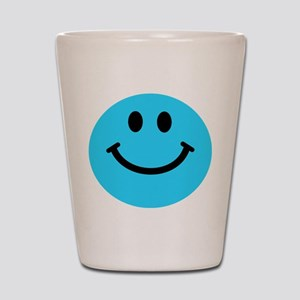 Blue Smiley Face Shot Glass
