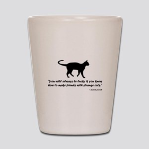 Ancient Cat Proverb Shot Glass
