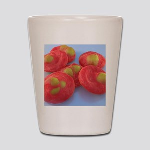 Red blood cells with malaria, artwork Shot Glass