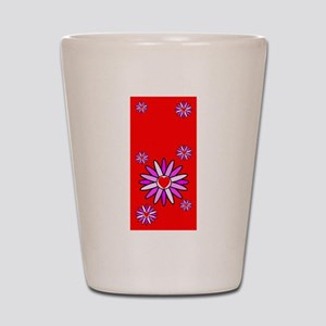 Lotus Blossoms Hot Red Shot Glass