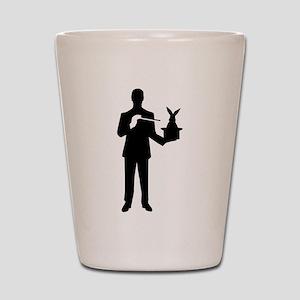 Magician bunny rabbit Shot Glass