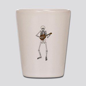 Skeleton Mandolin Shot Glass