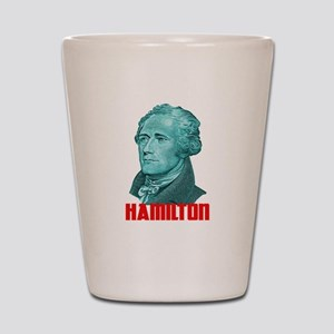 Alexander Hamilton in Green Shot Glass
