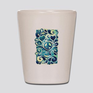 Colorful Hippie Art Shot Glass