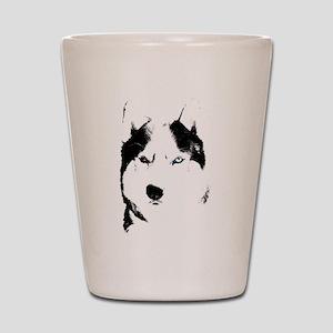 Husky Bi-Eye Husky Dog Shot Glass
