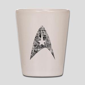 Vintage Star Trek Insignia Shot Glass