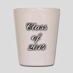 Class of 2014 - with black shadow Shot Glass