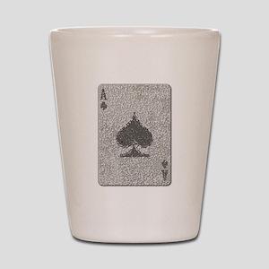 Ace of Spades Mosaic Shot Glass