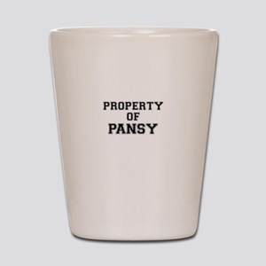 Property of PANSY Shot Glass