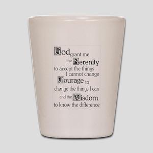 Serenity Prayer Shot Glass