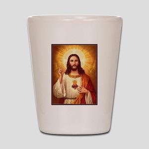 Sacred Heart of Jesus Shot Glass