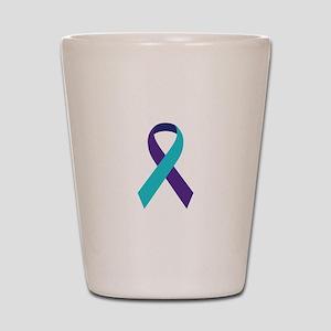 Suicide Awareness Ribbon Shot Glass