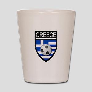 Greece Soccer Patch Shot Glass