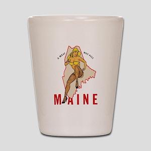 Maine Pinup Shot Glass