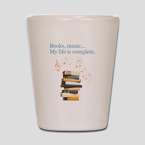 Books and music Shot Glass