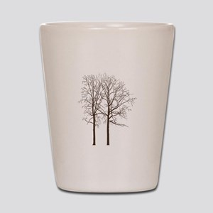 Brown Trees Shot Glass
