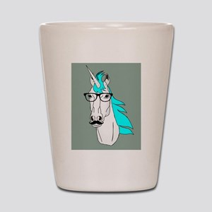Hipster Unicorn Funny Humor Kawaii Shot Glass