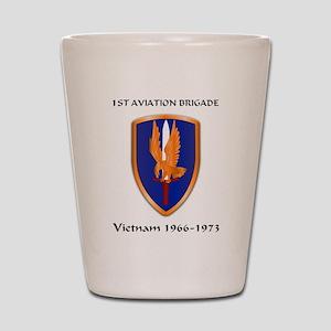 1st Aviation Brigade Shot Glass